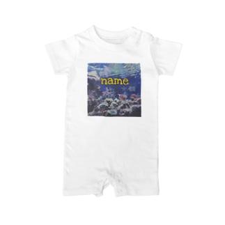 名前入り 海の生き物𓆛𓆜 Baby rompers