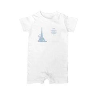 Paris_POSTCARD Baby rompers