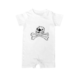 自由な海賊 Baby rompers