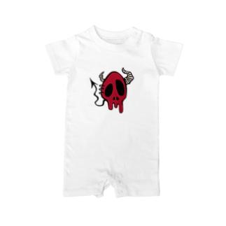 Devil Skull-Red- Baby rompers