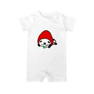 イチゴなパンダ。for BABY Baby rompers