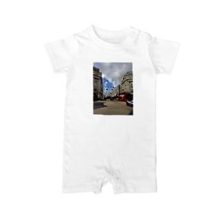 ロンドンの街並みとロンドンバス Baby rompers
