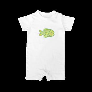 ヒロコイチノセ かみさまショップのさかな -HirocoIchinose- Baby rompers
