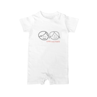LOVE &PEACE Baby rompers