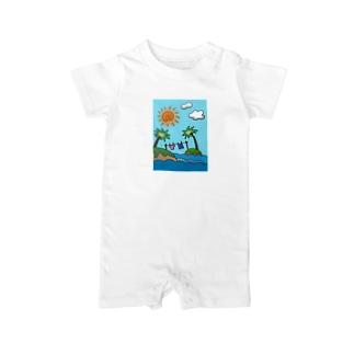 海のむこうの小さな島 カラー Baby rompers