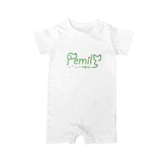 pemilyオリジナルTシャツ Baby rompers