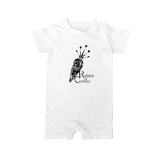 Rabbit of Crown(ニンジンver.) Baby rompers