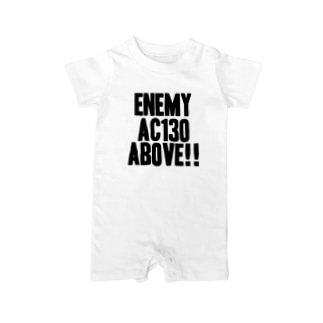 Enemy AC130 Above!!(white) Baby rompers