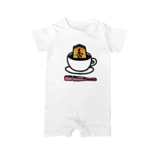 香るコーヒー(扇子ピンク色【数量限定】付き)[#将棋#香車] Baby rompers