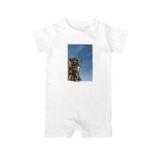 hill of cross -vivid- Baby rompers