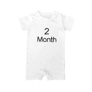 【赤ちゃん】生後2カ月(2Month) Baby rompers