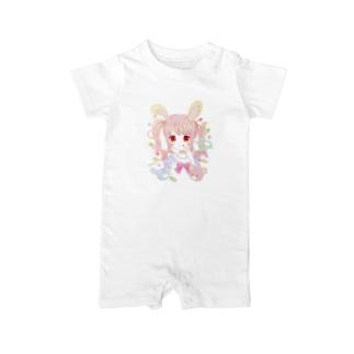 【オリジナル】うさぎさん Baby rompers