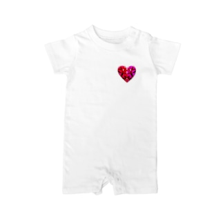 abstract heart shape Baby rompers