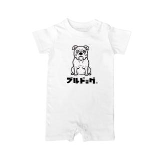 003_ブルドッグ Baby rompers