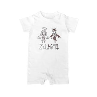 天使さんと悪魔さん(ロゴ入り①) Baby rompers