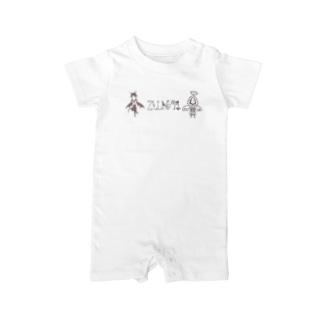 天使さんと悪魔さん(ロゴ入り③) Baby rompers