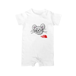 THE NEZUMI FACE NO.1 ロンパース Baby rompers