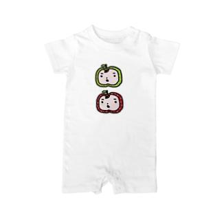 りんごまんず☆ Baby rompers