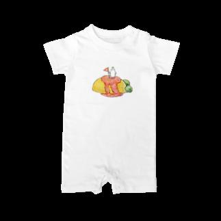 メバエマツモトのおむらいす Baby rompers