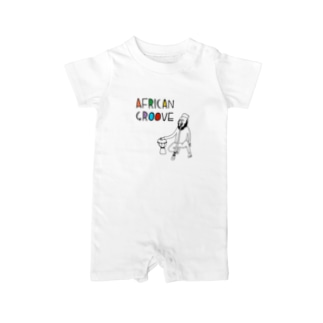 AFRICAN GROOVE Baby rompers