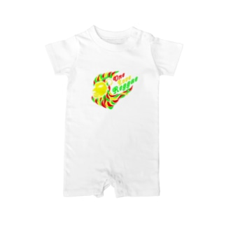 One Love Reggae(ラスタ) Baby rompers
