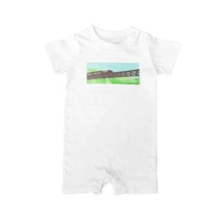 山岳鉄道 Baby rompers