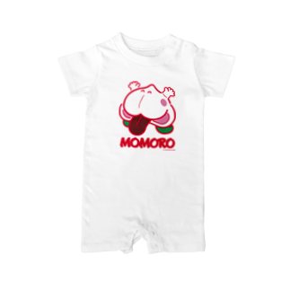よシまるシンのMOMORO(WHITE) Baby rompers