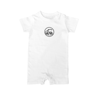 三輪車ロゴ Baby rompers