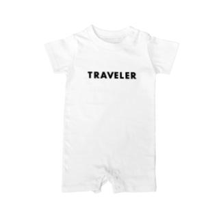 Recherche_PRODUCTのトラベラー Baby rompers
