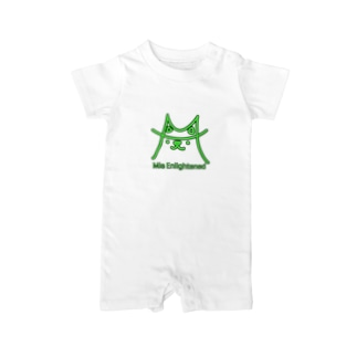 Mie Enlightened 黒縁取り Baby rompers