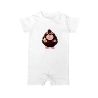 モンキー パンチ No.14:バナナゴリラ Baby rompers