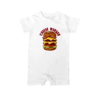 チーズバーガー Baby rompers