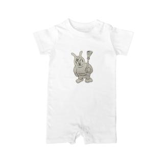 おっさんウサギ Baby rompers