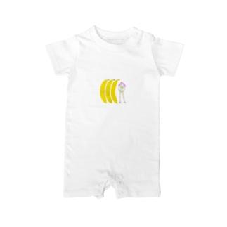バナナ娘 Baby rompers