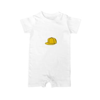 黄色い帽子 Baby rompers