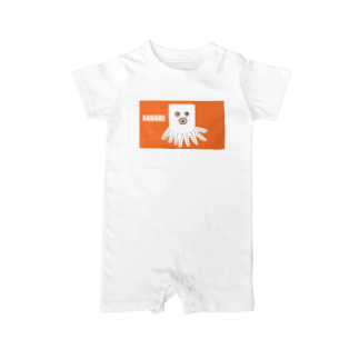 liveto100yearsのスクエアたこくん Baby rompers