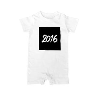 2016正月グッズ SQUARE 666 BLACK Baby rompers
