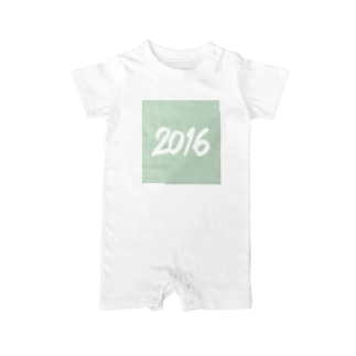 2016正月グッズ SQUARE FRESH GREEN Baby rompers