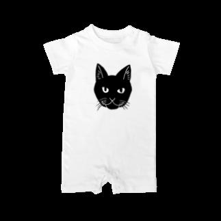 渡邊野乃香のお店の黒猫ジジ Baby rompers