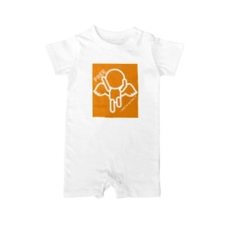 I want to be free!!!(白抜き) Baby rompers