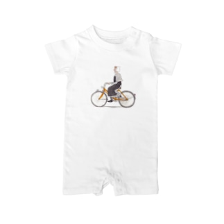 自転車に乗って Baby rompers