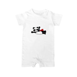ヒーローパンダ Baby rompers