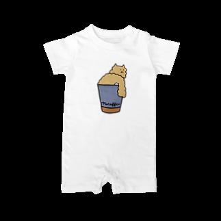 クマガイケイコのネコーヒー Baby rompers