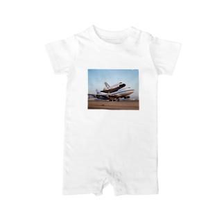 ジャンボ&スペースシャトル Baby rompers