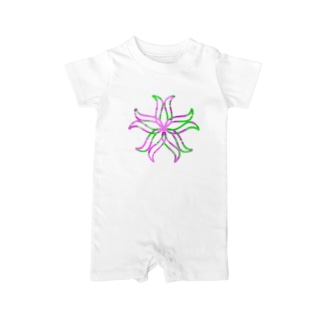 curveFlower Baby rompers