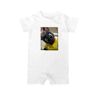 黒猫ポピー Baby rompers