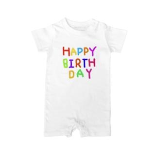 らららくらりねっとすたじおのHAPPYBIRTHDAYーお誕生日専用 Baby rompers