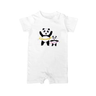 フラフープパンダ Baby rompers