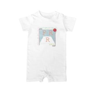 FRR(英語ロゴのみ/あわいver.) Baby rompers