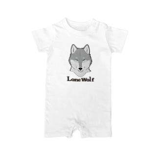 LONE WOLF Baby rompers